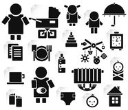 Set of family icons for design. royalty free illustration