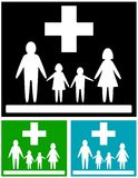 Set family medical icons. Isolated set, colorful medical icons for family health care Stock Image