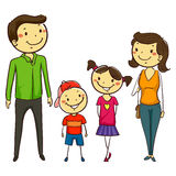 Set of Family in Stick Figures. Vector Illustration of Set of Family in Stick Figures Royalty Free Stock Photos