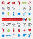 Set of family stickers Royalty Free Stock Image