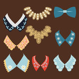 Set of fanshion vintage collars Stock Images