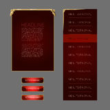 Set of fantasy vector interface elements Royalty Free Stock Images