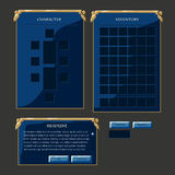 Set of fantasy vector interface elements Royalty Free Stock Image