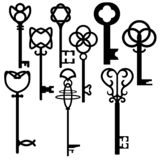 Set of fantasy vintage Keys vector illustration
