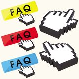 Set of FAQ buttons Royalty Free Stock Images