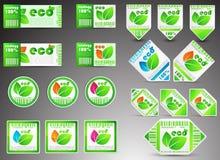 Set Farbe eco Karten Lizenzfreies Stockfoto