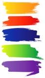 Set Farbe grunge Pinsel Lizenzfreie Stockfotos