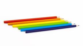 Set Farbenbleistifte Stockfoto