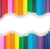 Set Farbenbleistifte mit copyspace stockbild