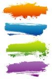 Set Farbenfahnen Lizenzfreie Stockbilder