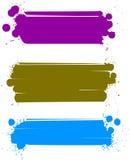 Set Farbenfahnen, Vektor Lizenzfreie Stockfotos