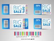 Set Farbenverkaufskarten Lizenzfreies Stockbild