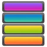 Set Farbenweb-Tasten Stockbilder