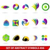 Set farbige abstrakte Symbole Lizenzfreie Stockbilder