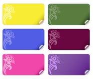 Set farbige Aufkleber Stockfoto