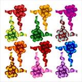 Set farbige Bögen Stockfoto