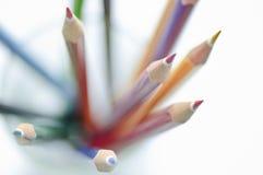 Set farbige Bleistifte   Stockfotos