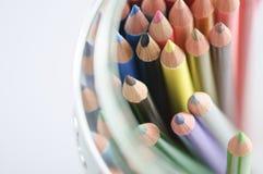 Set farbige Bleistifte   Stockbilder