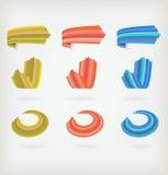 Set farbige Ikonen Lizenzfreie Stockbilder