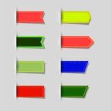 Set farbige Ikonen Stockfotos