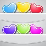 Set farbige Innere Stockbilder