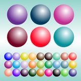 Set farbige Kugeln vektor abbildung