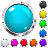Set farbige Tasten Lizenzfreie Stockfotos