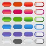 Set farbige Web-Tasten Bunte Sammlung für Ihre Website und Design stock abbildung