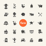 Set of farm agriculture flat design icons and Royalty Free Stock Photo