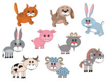 Set farm animals Stock Photo