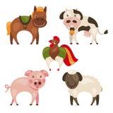 Set of farm animals Royalty Free Stock Photos