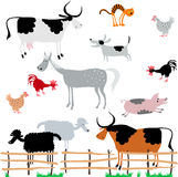 Set of  vector farm animals Stock Image