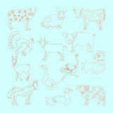 Set farm animals icon Stock Images