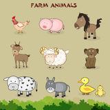 Set of farm animals. Royalty Free Stock Photography