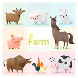 Set of farm animals Stock Photos