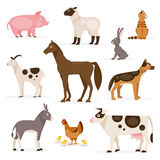 Set of farm animals. Vector Illustration Royalty Free Stock Photo