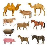 Set of farm animals royalty free illustration