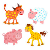 Set of farm animals Stock Image