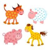 Set of farm animals. On white background Stock Image