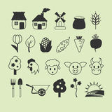 Set of farm icons Stock Images
