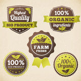 Set Farm organic eco label Royalty Free Stock Photography