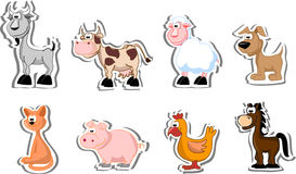 Set of farm pets,vector Stock Images