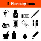 Set of farmacy icons Royalty Free Stock Photography