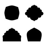 Set of farmes silhouette Stock Photos