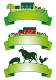 Set of farming banners Royalty Free Stock Photo
