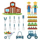 Set of farming royalty free illustration