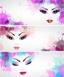 Set of fashion banners Stock Images