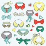 Set of fashion collars Royalty Free Stock Images