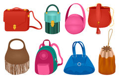 Set of fashion handbag Stock Photo