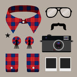 Set of fashion hipster design element Royalty Free Stock Images